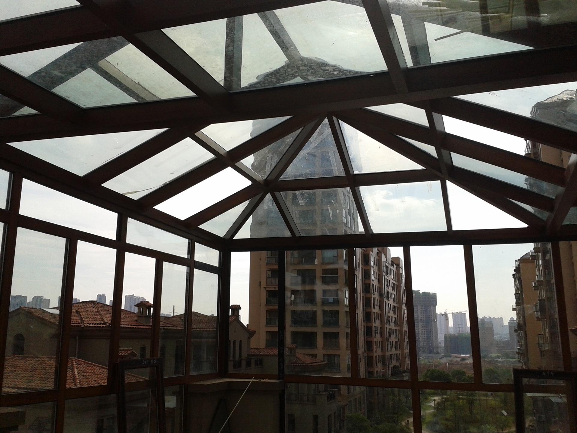 供应别墅阳光房 夹胶玻璃阳光房 弧形阳光房 锥形顶阳光房
