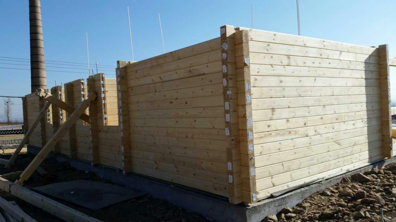 工厂直供【康思特】重木结构木屋墙体/胶合木/木屋材料满洲里货源