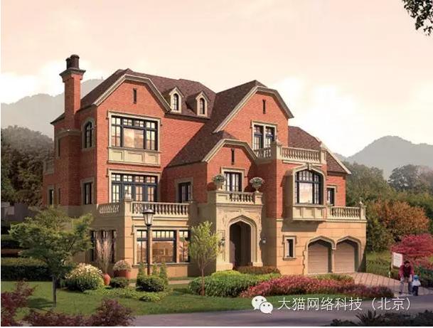 钢混二层小别墅图片