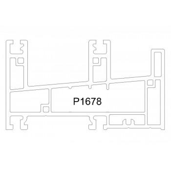 P1678 - 推拉框(88mm) - ORTA推拉窗系列