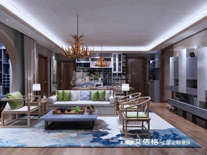 中式簡約風格全屋定制家具設計【艾依格】