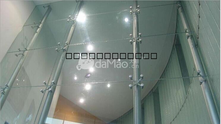 材料商城_幕墙_玻璃幕墙_钢结构点式玻璃幕墙,天棚