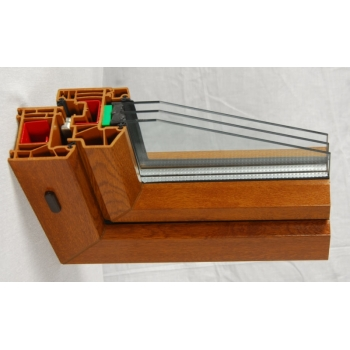 60系列内平开彩色塑钢型材